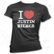 I Love Justin Bieber T Shirt