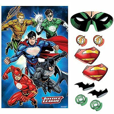 Justice League PARTY GAME POSTER ~ Birthday Supplies Decorations Activity
