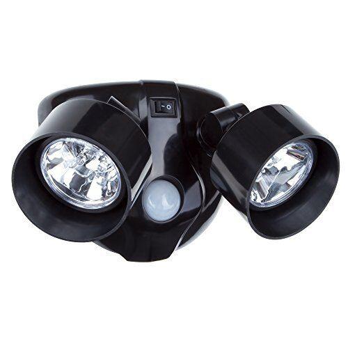 Dual Head Security LED Light Motion Sensor spot Battery Powe