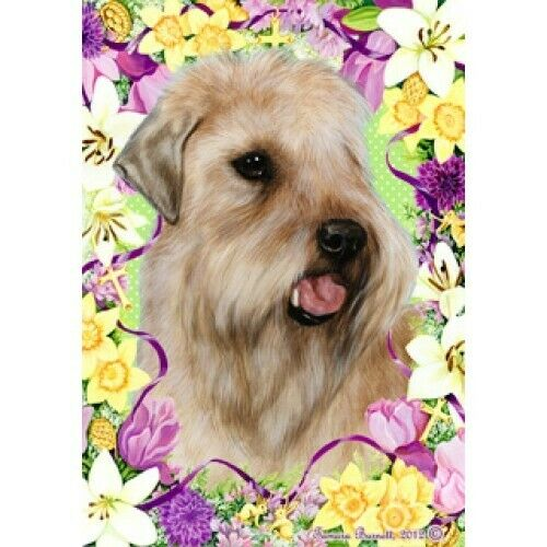 Easter House Flag - Wheaten Terrier 33056