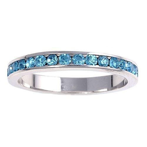 Aquamarine Eternity Ring Ebay