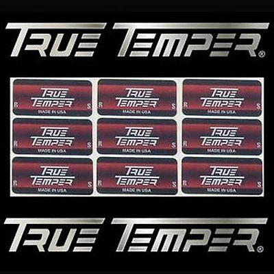 9 New True Temper Shaft Labels R or S