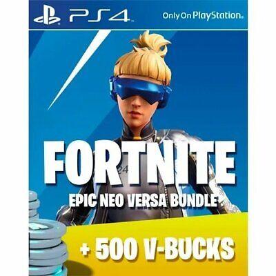 Fortnite Neo Versa Bundle PSN Code and 500 VBucks SENT WITHIN 24 HOURS