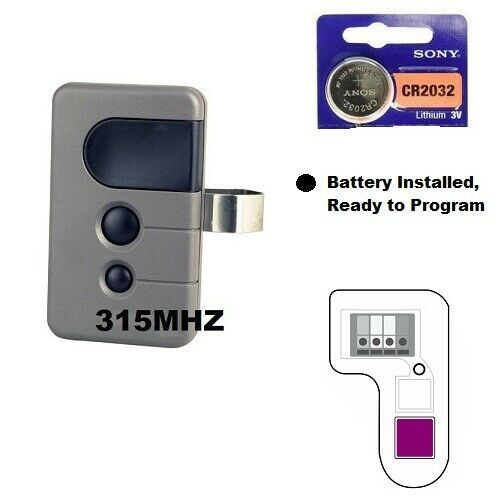 Sears Craftsman 139.53753 3 Button Garage Door Opener Remote Control 315mhz