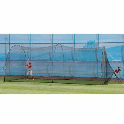 BaseHit Pitching Machine & PowerAlley 22' Batting Cage