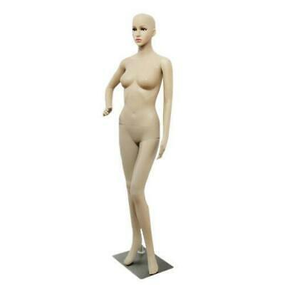 Female Mannequin Realistic Plastic Full Body Dress Form Display W Base