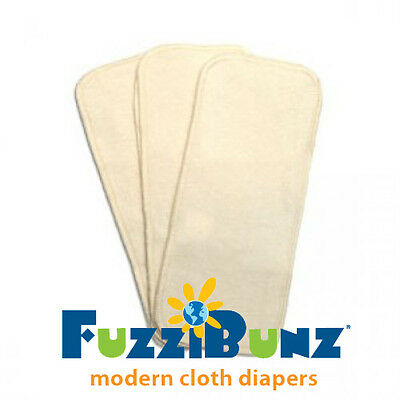 Organic Pocket Diapers - FuzziBunz Organic Pocket Diaper Inserts (Fits Medium/Large Diapers)