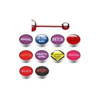 10 Set Piercing Alla Lingua Bello Loghi Piercing Per Lingua -  - ebay.it