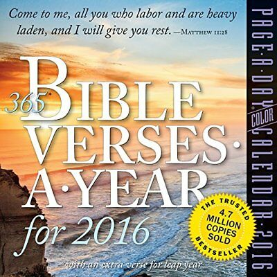 365 Bible Verses-A-Year Color Page-A-Day Calendar 2016 (365 Bible Verses)