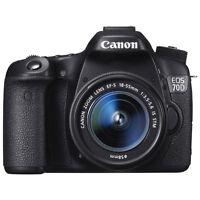 Canon EOS 70D DSLR Camera 18-55mm IS STM Lens, Neuf,Boite scelle