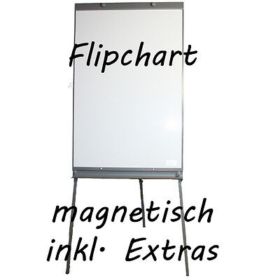 ECO Flipchart Whiteboard magnetisch höhenverstellbar inkl. Marker Magnete Block