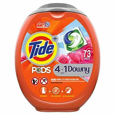 Tide Pods with Downy, Liquid Laundry Detergent Pacs, April Fresh, 73 Count New