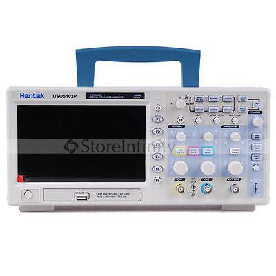 "Hantek DSO5102P Oscilloscope 100MHz 1Gs 2CH 7"""
