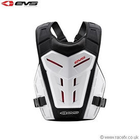 EVS Youth Revo 4 Chest Body Armour Motocross Enduro Neck Brace Compatible White