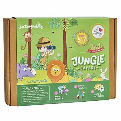 Art And Craft For Kids (jackinthebox Jungle Themed Art and Craft Kit for Kids | 3 Crafts-in-1 | Great)