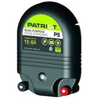 Patriot P5 Electric Fence Charger Energizer 15 Mile.5joule Ac Or Dc Powered
