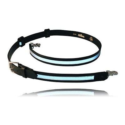 Boston Leather Reflective Firefighters Radio Strap Belt