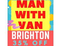 BRIGHTON Home Removal + Man With Van (AFFORDABLE)