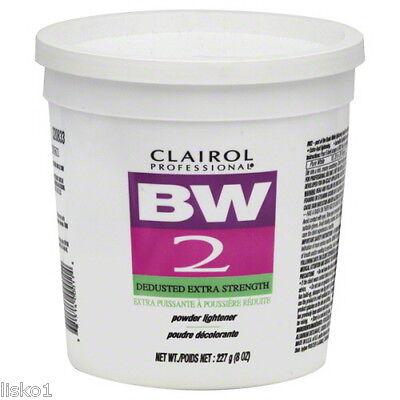 CLAIROL BW2 BLEACH POWDER HAIR LIGHTENER, DEDUSTED EXTRA STRENGTH   8oz.