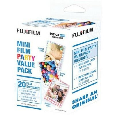 Fujifilm Instax Mini Film Party Value Pack 20 Film Exposures