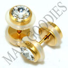 Gold Ear 0g (8 mm) Thickness Gauge Body Piercing Jewelry
