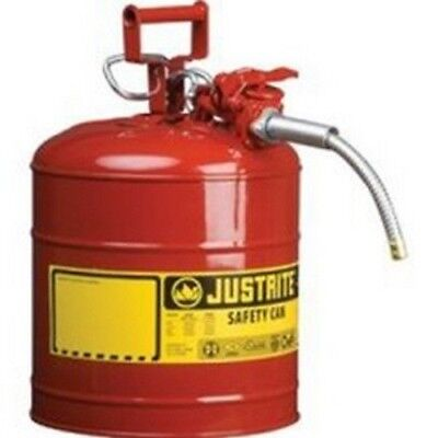 Justrite 7220120 Red Metal Safety Can Type Ll Two Gallon Capacity Wflex Hose