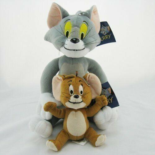 2Pcs/Set Tom And Jerry Plush Stuffed Toys Dolls Kids Gifts 30CM*17CM