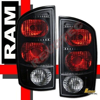 02-05 Dodge Ram 1500 03-05 Ram 2500 3500 Pickup Black Tail Lights Lamps 1 Pair  Dodge 1500 Pickup Tail Lamps