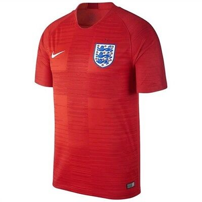NIKE 2018 ENGLAND AWAY WORLD CUP SOCCER JERSEY RED 893867 600 sz LARGE L 5a702e3e5