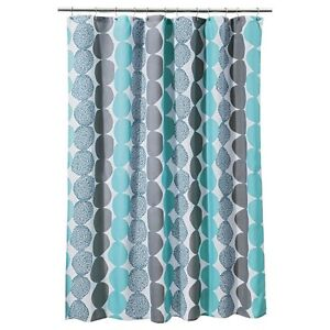 Room EssentialsR Circle Shower Curtain Turquoise Gray