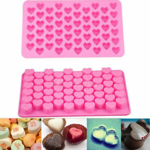 Silicone-55-Heart-Cake-Chocolate-Cookies-Baking-Mould-Ice-Cube-Soap-Mold-Tray