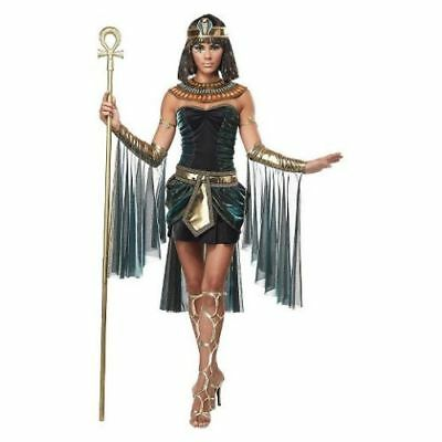 Nile Egyptian Goddess Cleopatra DELUXE Costume Adult Halloween Costume Small 6-8 - Cleopatra Adult Halloween Costume