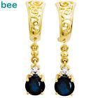 Gold Sapphire Fine Earrings