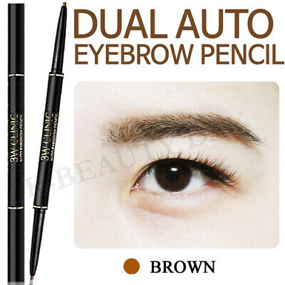 3W Clinic Auto eyebrow Pencil #Brown / Dual-sided eyebrow pencil Korean Cosmetic