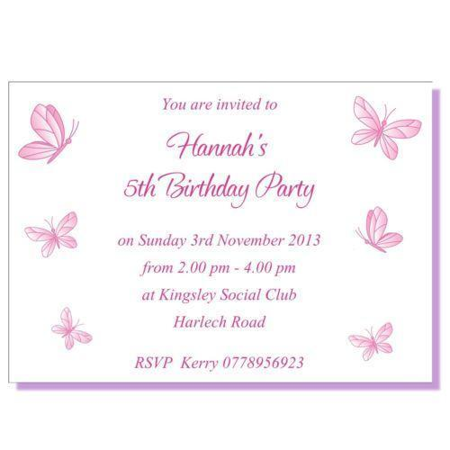 Butterfly Birthday Invitations Celebrations Occasions