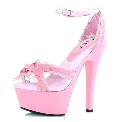 Ellie Shoes 6 Inch Stiletto Heel Lace Trim Platform Sandal - Ellie Platform Shoes