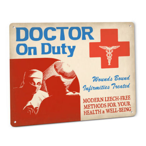 DOCTOR Gift SIGN Vintage Art Plaque female scalpel operation hospital clinic 88