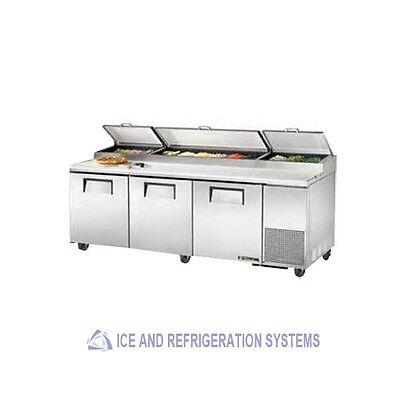 MIGALI COMMERCIAL TRIPLE DOOR PIZZA PREP REFRIGERATOR COOLER TABLE C-PP93