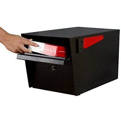Large Lockable Mailbox Locking Mailboxes Residential Black Modern Heavy (Large Residential Mailboxes)