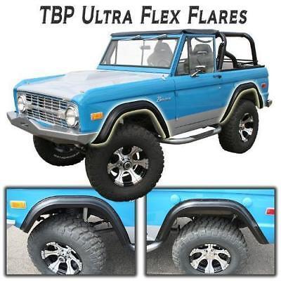 1966-1977 Early Ford Bronco TBP UltraFlex Fender Flares Set of 4 BLEMISHED for sale  Medford