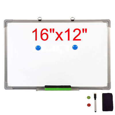 """16""""x12"""" Single Side Magnetic Writing Whiteboard Office Dry Erase Board New"""