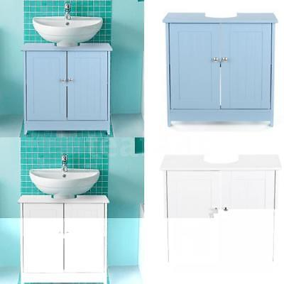 iKayaa Under Pedestal Sink Cabinet Vanity Bathroom Cupboard Caddy Organizer X5I6
