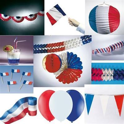 FRANKREICH Deko Party blau weiss rot  USA Fussball Dekoration AUSWAHL