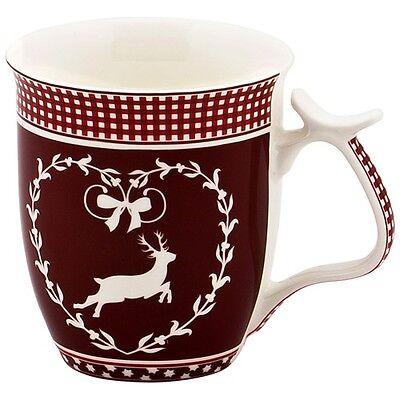 Hirsch rot mit weiß Jumbobecher Jumbotasse Kaffeebecher 0,5 L
