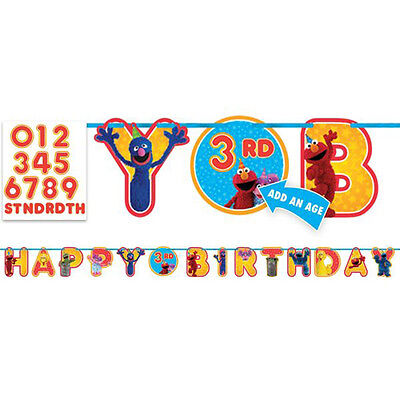 SESAME STREET Stars JUMBO LETTER BANNER ~ Birthday Party Supplies Decorations](Sesame Street Birthday Banner)