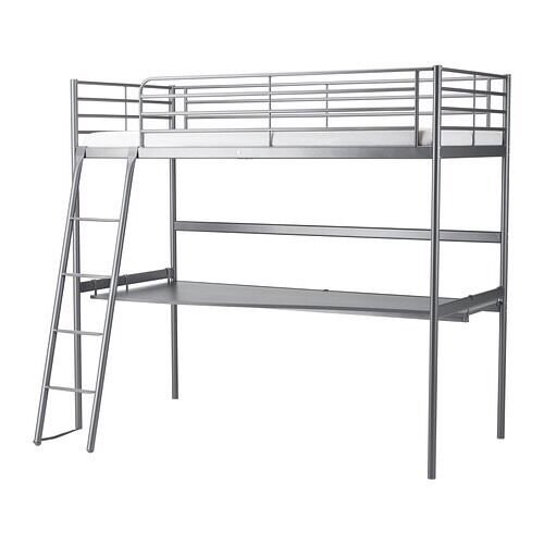 Svarta loft bunk bed with desk top and mattress. All in excellent condition. First to view will buy.
