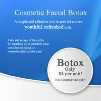 Get Botox Cosmetic anti-wrinkle injections for ONLY $8 per unit!