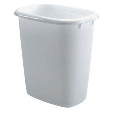 Rubbermaid Vanity Wastebasket, 14 Quart, White