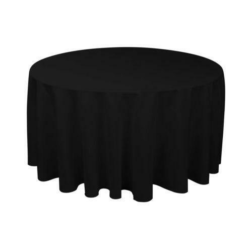120 round black tablecloth ebay for 120 round table seats how many