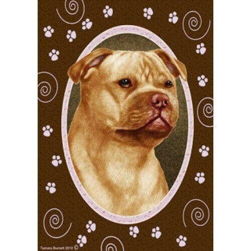 Paws House Flag - Orange Staffordshire Bull Terrier 17247